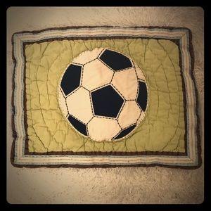 Pottery Barn Kids soccer pillow sham